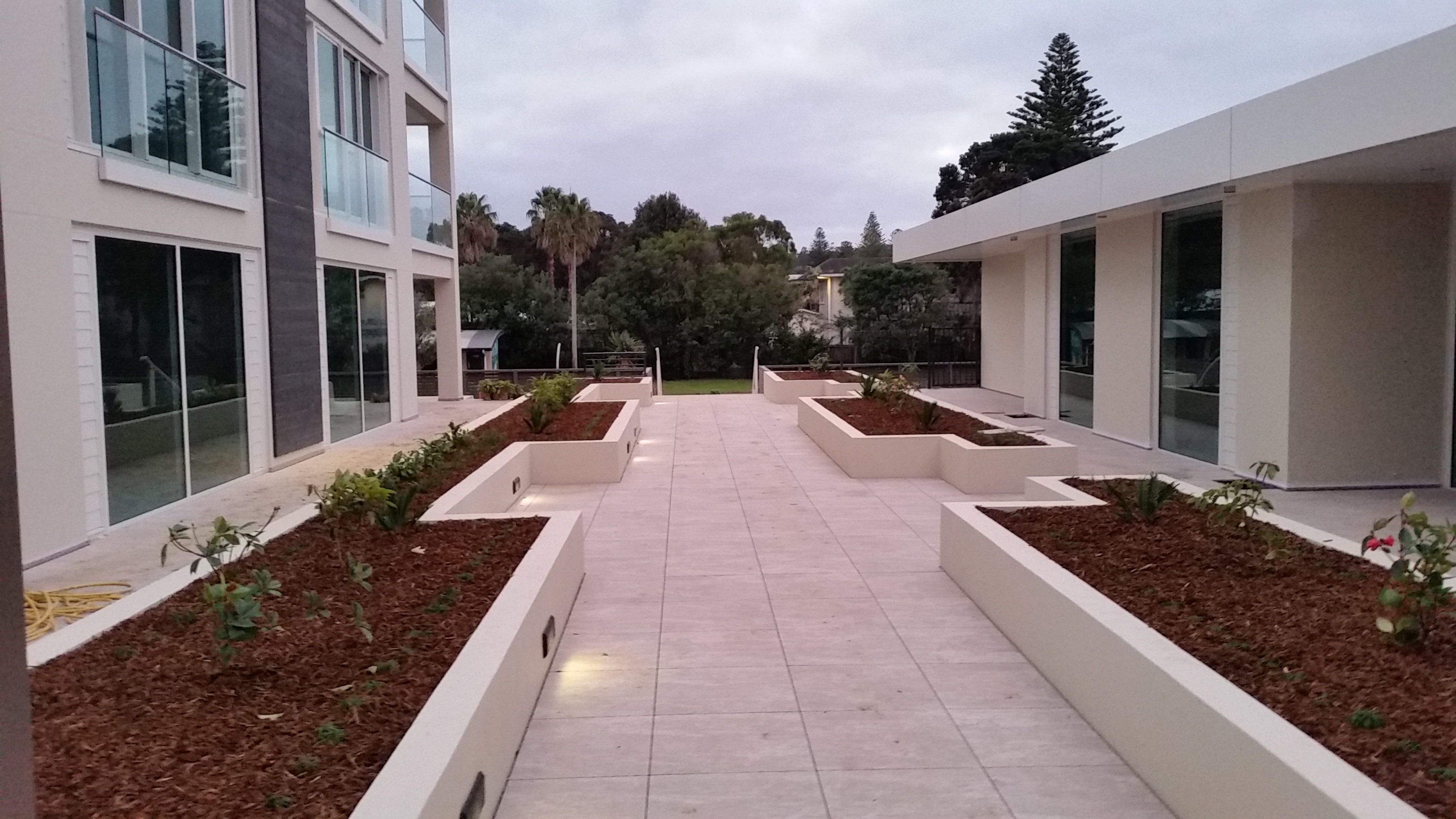 Gardens designed for large unit title